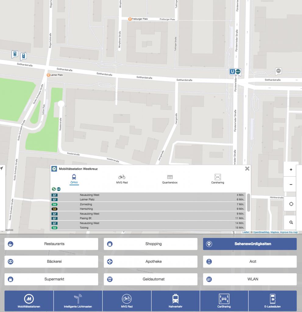 Screenshot der Benutzeroberfläche